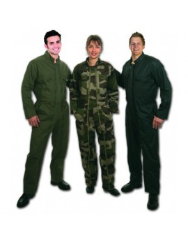 Combinaison 2 zips militaire Ripstop camouflage centre europe