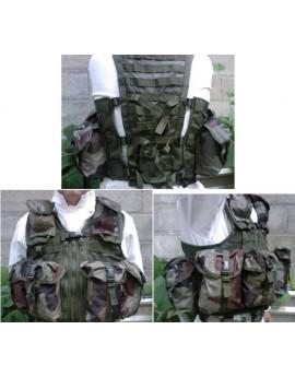 Gilet assaut militaire 8 poches modulaires