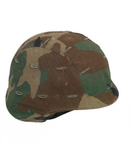 Couvre casque US camouflage woodland