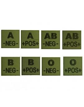 Ecusson groupe sanguin Vert Armée