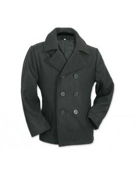 CABAN Marine laine noir (armée US) boutons Noir