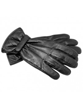 Gants hiver cuir noir