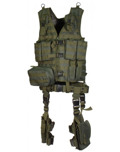 Gilet tactique UTG modulable ULTIMATE complet 10 accessoires
