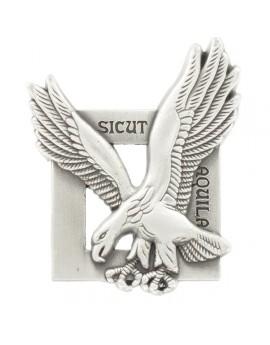 SICUT AQUILA insigne métallique