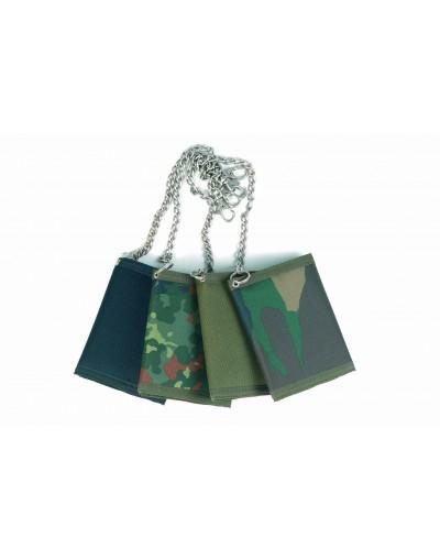 Porte-feuilles nylon avec chainette