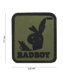 """Patch 3D PVC """" Badboy """" vert"""