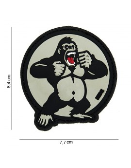 "Patch 3D PVC "" King Kong "" blanc"
