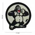 "Patch 3D PVC "" King Kong "" blanc"