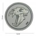 "Patch 3D PVC "" Sabertooth tiger "" gris"