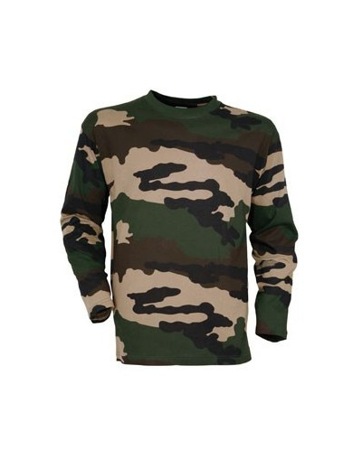 T-shirt manches longues Camouflage Centre Europe