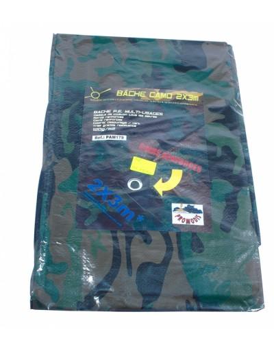 Bache nylon camouflage 2m x 3m