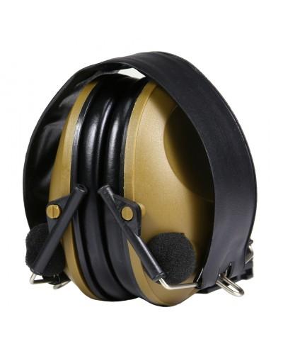 Casque Protection Oreille Tir Anti Bruit Electronique Airsoft Militaire