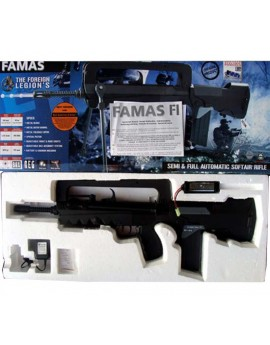 Fusil airsoft FAMAS électrique + batterie +chargeur électrique