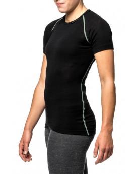 T-shirt Ullfrotté lite noir