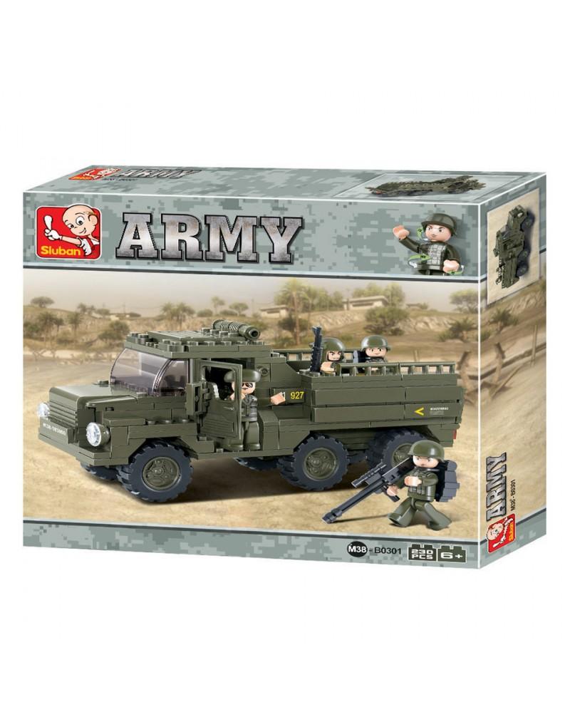jeux briques construction camion militaire sluban lego. Black Bedroom Furniture Sets. Home Design Ideas