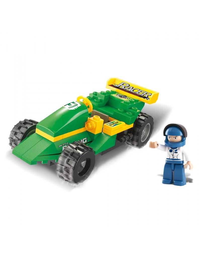 jeux briques construction voiture de course sluban lego. Black Bedroom Furniture Sets. Home Design Ideas