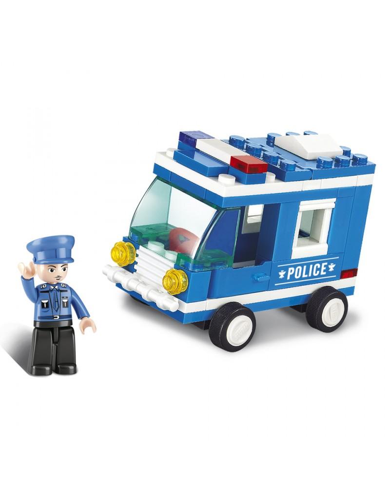 Jeux briques construction camion police sluban lego - Lego camion de police ...