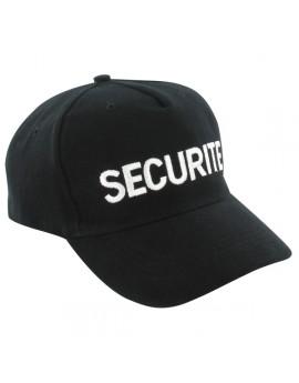 Casquette SECURITE brodée noire