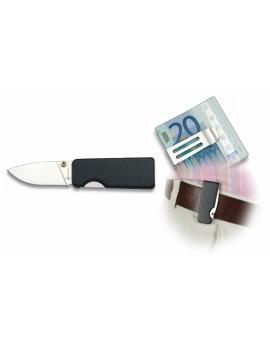 Couteau ALBAINOX NOIR avec Clip 5 cm