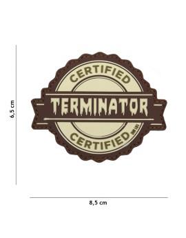 Patch 3D PVC Terminator sable