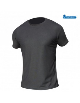 T-SHIRT COOLDRY MAILLE PIQUEE NOIR
