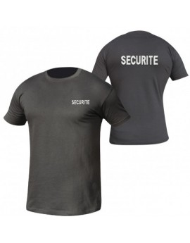 T SHIRT NOIR BRODE SECURITE