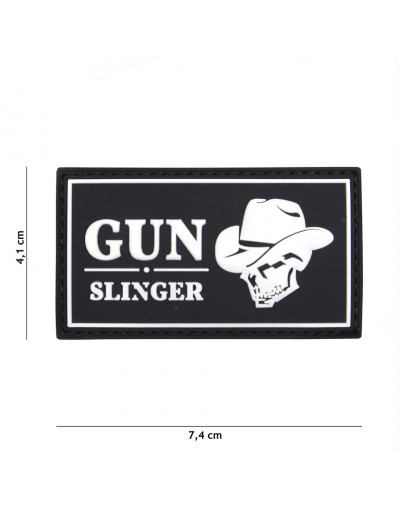 ECUSSON 3D PVC GUN SLINGER SKULL COWBOY NOIR