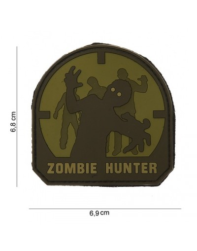 Ecusson zombie hunter plastifié