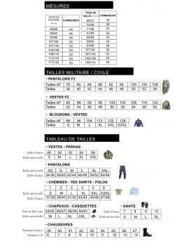 Pantalon F2 camouflage CE réglementaire