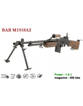 BAR M1918A2 - AEG - Full métal - 1.5J - 6mm