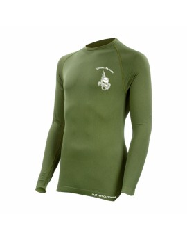 Tee shirt technical line légion manches longues vert armée