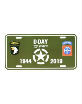 Plaque immatriculation US spécial D-day