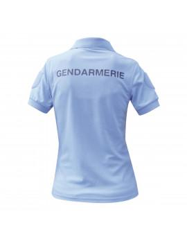 Polo Gendarmerie Femme Macnhe courte Cooldry