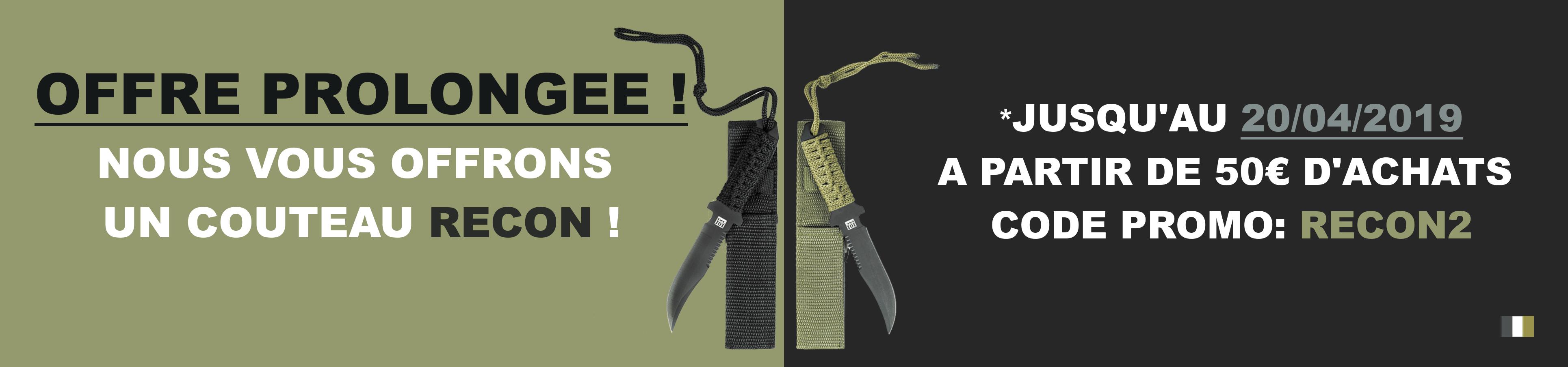 Couteau de combat RECON offert à partir de 50 euros d'achat